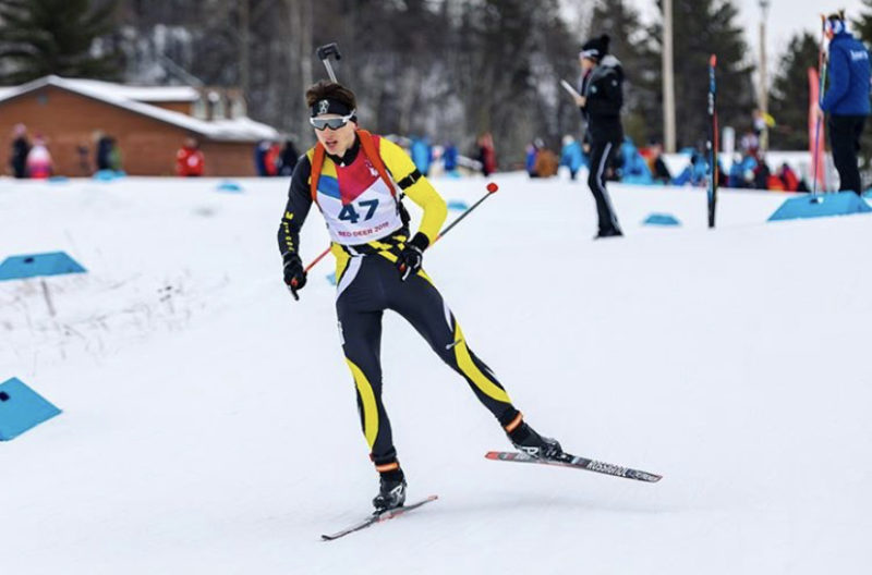Lucas Smith competes in Canmore, AB