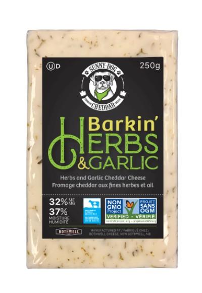 Image for Non-GMO Project Verified Sunny Dog Barkin' Herbs and Garlic Cheddar