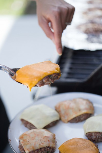 Cheese on Burgers