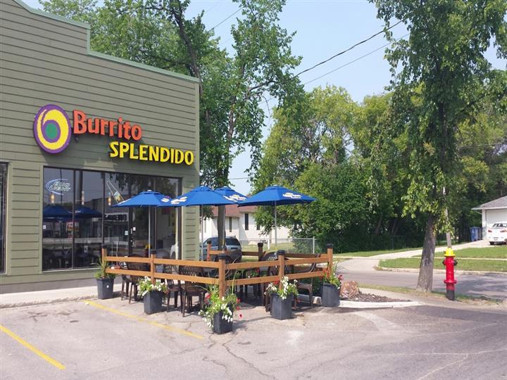 Enjoy the patio at Burrito Splendito's St. Mary location
